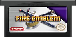 Cartridge artwork for Fire Emblem on the Nintendo Game Boy Advance.