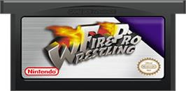 Cartridge artwork for Fire Pro Wrestling on the Nintendo Game Boy Advance.
