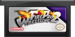 Cartridge artwork for Fire Pro Wrestling 2 on the Nintendo Game Boy Advance.