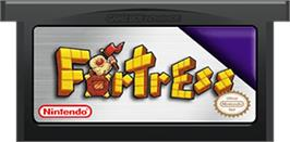 Cartridge artwork for Fortress on the Nintendo Game Boy Advance.