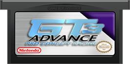 Cartridge artwork for GT Advance 3: Pro Concept Racing on the Nintendo Game Boy Advance.