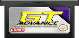 Cartridge artwork for GT Advance Championship Racing on the Nintendo Game Boy Advance.