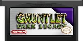 Cartridge artwork for Gauntlet Dark Legacy on the Nintendo Game Boy Advance.