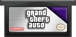 Cartridge artwork for Grand Theft Auto Advance on the Nintendo Game Boy Advance.