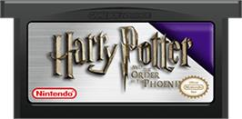 Cartridge artwork for Harry Potter and the Order of the Phoenix on the Nintendo Game Boy Advance.