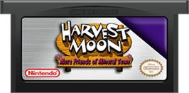Cartridge artwork for Harvest Moon: More Friends of Mineral Town on the Nintendo Game Boy Advance.