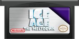 Cartridge artwork for Ice Age 2: The Meltdown on the Nintendo Game Boy Advance.