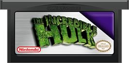 Cartridge artwork for Incredible Hulk on the Nintendo Game Boy Advance.
