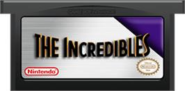 Cartridge artwork for Incredibles on the Nintendo Game Boy Advance.