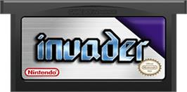 Cartridge artwork for Invader on the Nintendo Game Boy Advance.