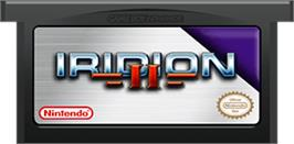 Cartridge artwork for Iridion 2 on the Nintendo Game Boy Advance.