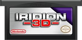 Cartridge artwork for Iridion 3D on the Nintendo Game Boy Advance.