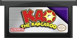 Cartridge artwork for Kao the Kangaroo on the Nintendo Game Boy Advance.