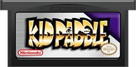 Cartridge artwork for Kid Paddle on the Nintendo Game Boy Advance.