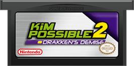 Cartridge artwork for Kim Possible 2: Drakken's Demise on the Nintendo Game Boy Advance.