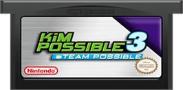 Cartridge artwork for Kim Possible 3: Team Possible on the Nintendo Game Boy Advance.