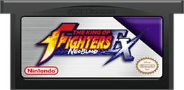 Cartridge artwork for King of Fighters EX: Neo Blood on the Nintendo Game Boy Advance.