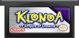 Cartridge artwork for Klonoa: Empire of Dreams on the Nintendo Game Boy Advance.