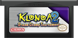 Cartridge artwork for Klonoa 2: Dream Champ Tournament on the Nintendo Game Boy Advance.
