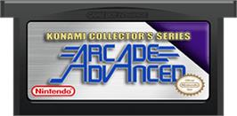 Cartridge artwork for Konami Collector's Series: Arcade Advanced on the Nintendo Game Boy Advance.