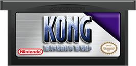 Cartridge artwork for Kong: The 8th Wonder of the World on the Nintendo Game Boy Advance.