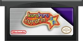 Cartridge artwork for Kuru Kuru Kururin on the Nintendo Game Boy Advance.