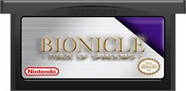 Cartridge artwork for LEGO Bionicle: Tales of Tohunga on the Nintendo Game Boy Advance.