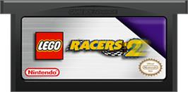 Cartridge artwork for LEGO Racers 2 on the Nintendo Game Boy Advance.