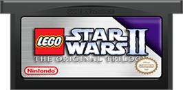 Cartridge artwork for LEGO Star Wars 2: The Original Trilogy on the Nintendo Game Boy Advance.
