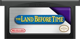 Cartridge artwork for Land Before Time on the Nintendo Game Boy Advance.