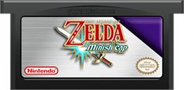 Cartridge artwork for Legend of Zelda: The Minish Cap on the Nintendo Game Boy Advance.