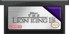 Cartridge artwork for Lion King 1 ½ on the Nintendo Game Boy Advance.