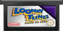 Cartridge artwork for Looney Tunes Back in Action on the Nintendo Game Boy Advance.