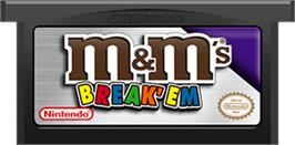 Cartridge artwork for M&M's Break' Em on the Nintendo Game Boy Advance.