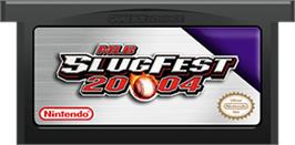 Cartridge artwork for MLB SlugFest 20-04 on the Nintendo Game Boy Advance.