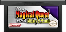 Cartridge artwork for Magical Quest Starring Mickey & Minnie on the Nintendo Game Boy Advance.