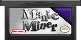 Cartridge artwork for Manic Miner on the Nintendo Game Boy Advance.