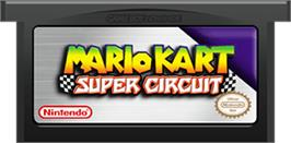 Cartridge artwork for Mario Kart Super Circuit on the Nintendo Game Boy Advance.