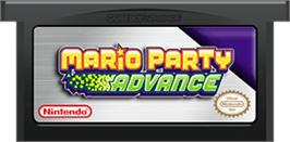 Cartridge artwork for Mario Party Advance on the Nintendo Game Boy Advance.