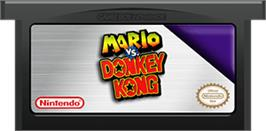 Cartridge artwork for Mario vs. Donkey Kong on the Nintendo Game Boy Advance.