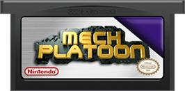 Cartridge artwork for Mech Platoon on the Nintendo Game Boy Advance.