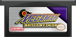 Cartridge artwork for Mega Man Battle Network on the Nintendo Game Boy Advance.
