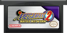 Cartridge artwork for Mega Man Battle Network 2 on the Nintendo Game Boy Advance.