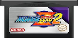 Cartridge artwork for Mega Man Zero 2 on the Nintendo Game Boy Advance.