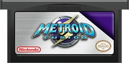 Cartridge artwork for Metroid Fusion on the Nintendo Game Boy Advance.