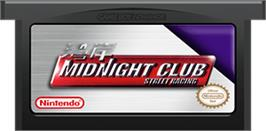 Cartridge artwork for Midnight Club: Street Racing on the Nintendo Game Boy Advance.