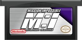 Cartridge artwork for Mission Impossible: Operation Surma on the Nintendo Game Boy Advance.