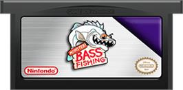 Cartridge artwork for Monster! Bass Fishing on the Nintendo Game Boy Advance.