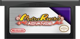 Cartridge artwork for Monster Rancher Advance on the Nintendo Game Boy Advance.