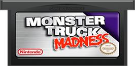 Cartridge artwork for Monster Truck Madness on the Nintendo Game Boy Advance.